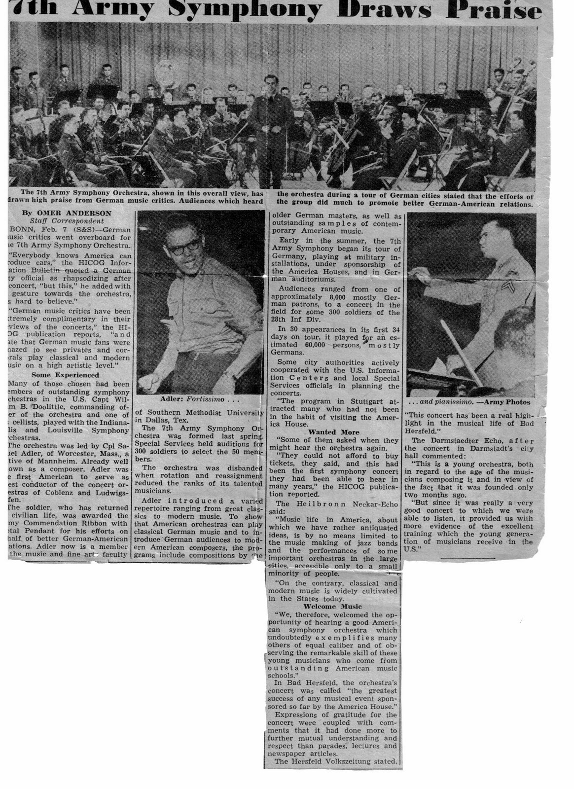 1953 Newspaper Article